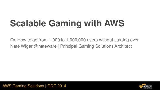 AWS Architecture - GDC 2014