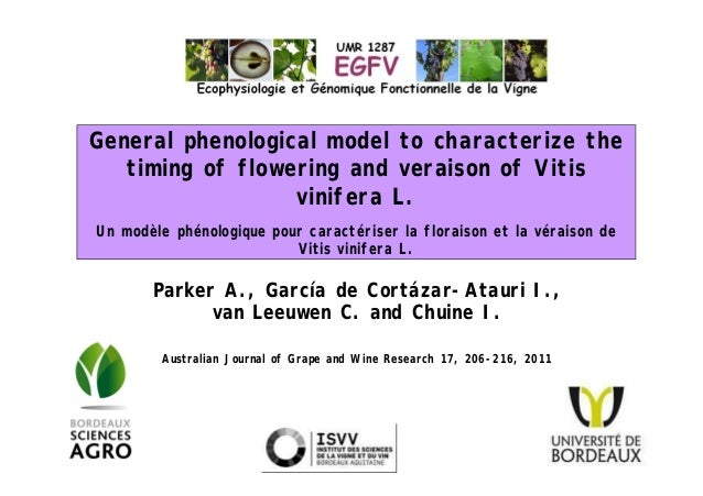 General phenological model to characterize thetiming of flowering and veraison of Vitisvinifera L.Un modèle phénologique p...