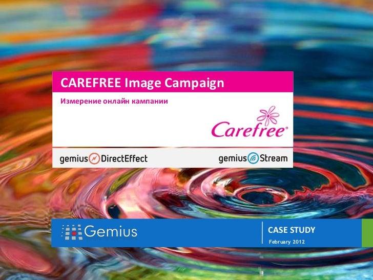 gemiusDirectEffect                     //                          CAREFREE Image Campaign                          Измере...