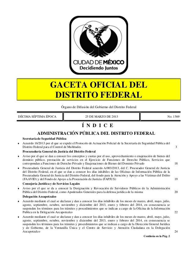 Manual de seguridad pública del GDF