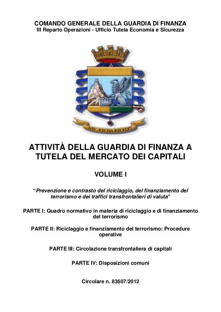 Gd f. circolare n.83607 del 19 marzo 2012