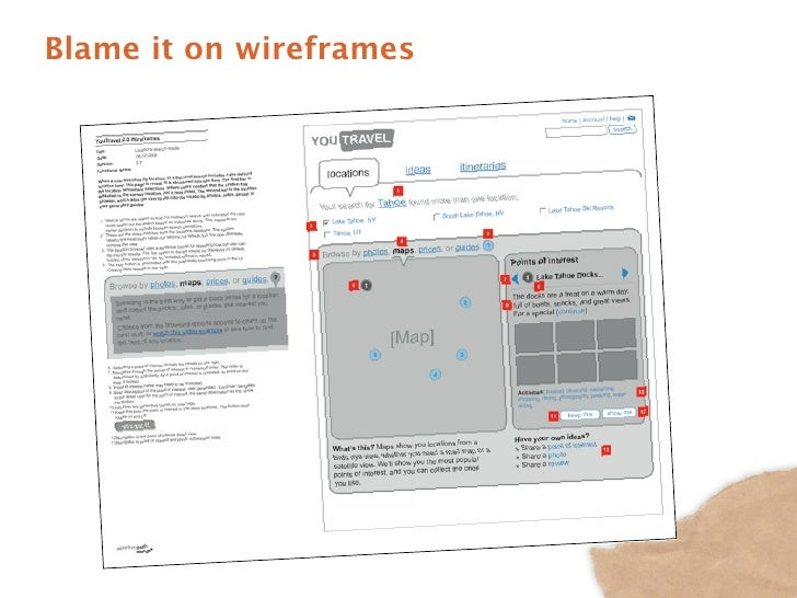 Blame it on wireframes