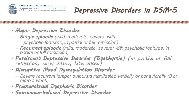 Major depressive disorder single episode in partial remission
