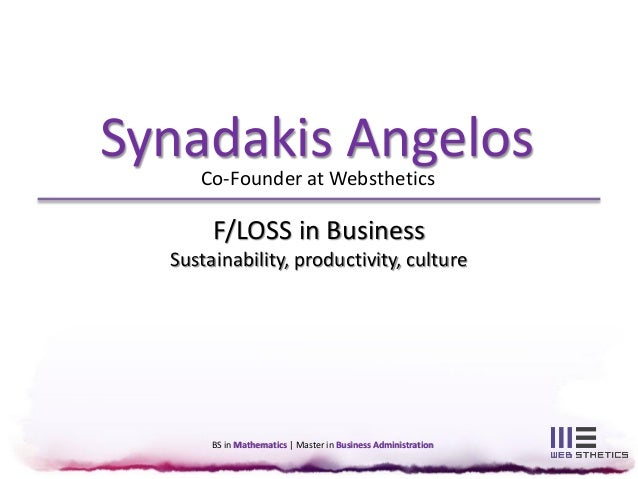 F/LOSS in Business - Sustainability, productivity, culture