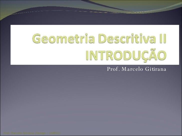Prof. Marcelo Gitirana