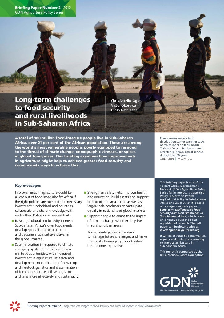 Briefing Paper Number 2 | 2012      GDN Agriculture Policy Series	 Long-term challenges                                   ...