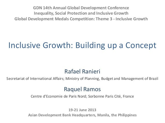 GDN 14th Annual Global Development ConferenceInequality, Social Protection and Inclusive GrowthGlobal Development Medals C...