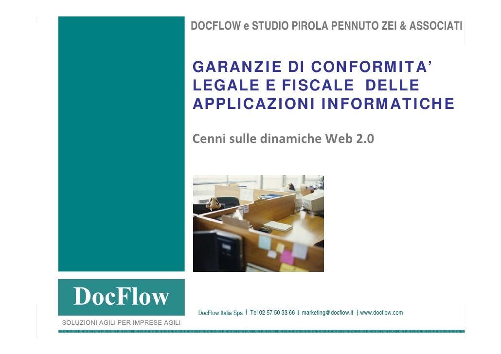 Conformità legale e fiscale delle applicazioni informatiche. Dinamiche web 2.0 nel modo GDO.