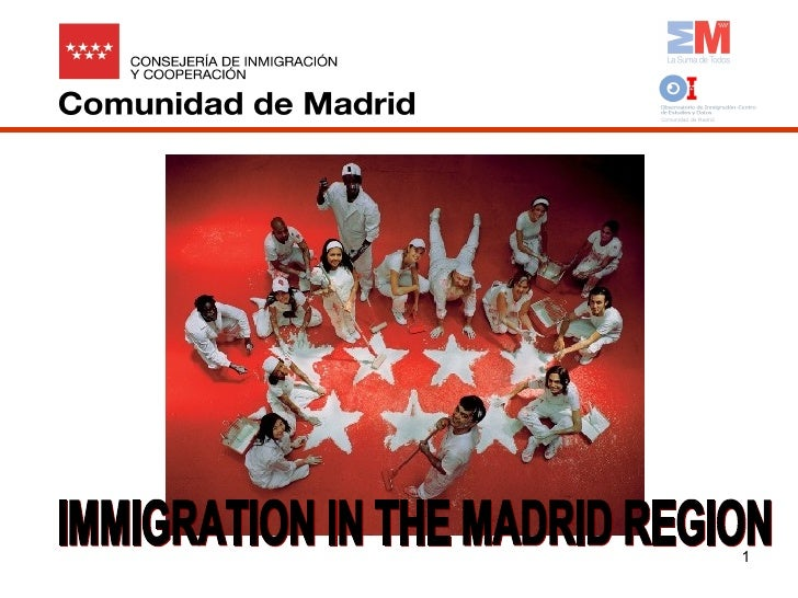 IMMIGRATION IN THE MADRID REGION
