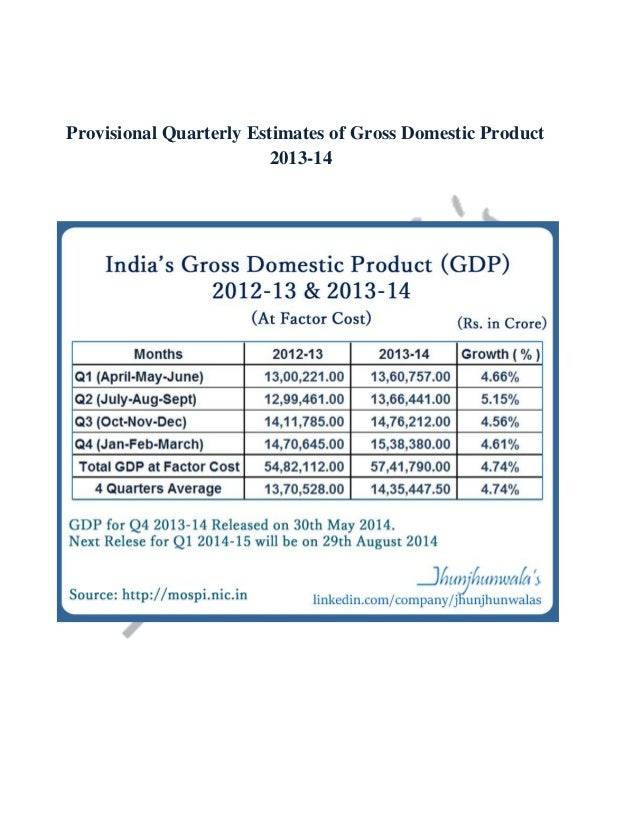 Provisional Quarterly Estimates of Gross Domestic Product 2013-14