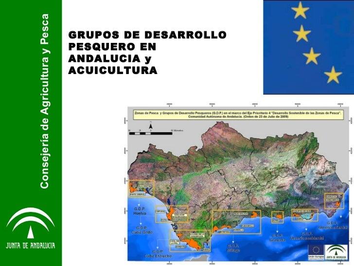 Consejería de Agricultura y Pesca GRUPOS DE DESARROLLO PESQUERO EN ANDALUCIA y ACUICULTURA