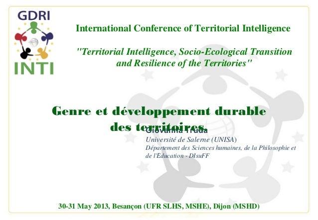 Giovanna TrudaUniversité de Salerne (UNISA)Département des Sciences humaines, de la Philosophie etde lEducation - DIsuFF́3...