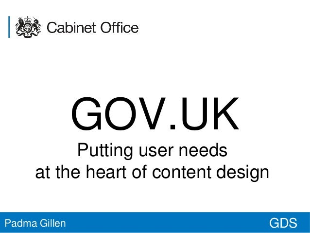 RUday Manchester | GOV.UK and user needs at the heart of content design | GDS