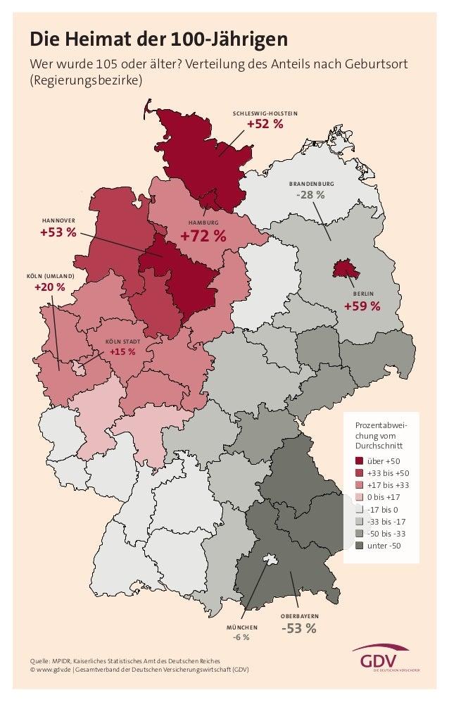 Deutschlandkarte: Die Heimat der 100-Jährigen