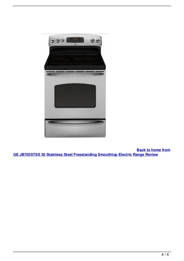 Ge jb705stss 30 stainless steel freestanding smoothtop electric range - Reviews on electric stoves ...