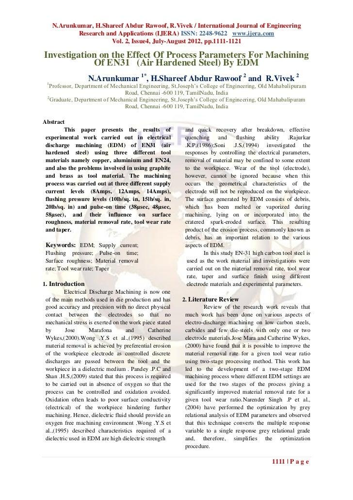 N.Arunkumar, H.Shareef Abdur Rawoof, R.Vivek / International Journal of Engineering             Research and Applications ...