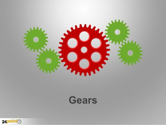 Gear Images - Editable PowerPoint Slides