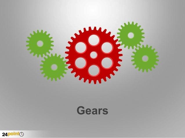 Gear Diagrams - Fully Editable PowerPoint