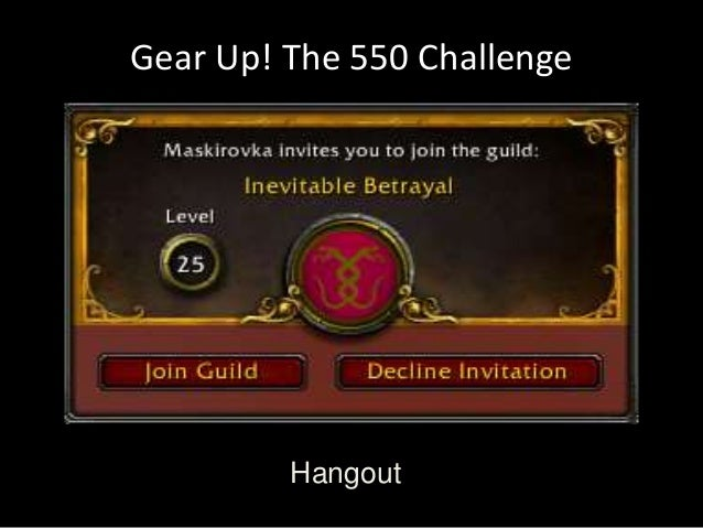 Gear Up! The 550 Challenge  Hangout