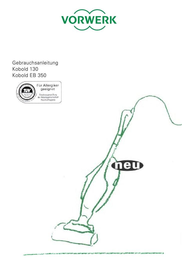 Gebrauchsanleitung Kobold 130 Kobold EB 350