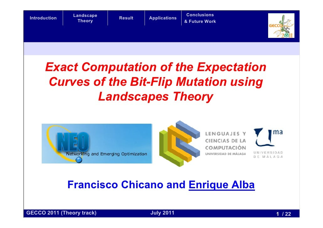 Exact Computation of the Expectation Curves of the Bit-Flip Mutation using Landscapes Theory
