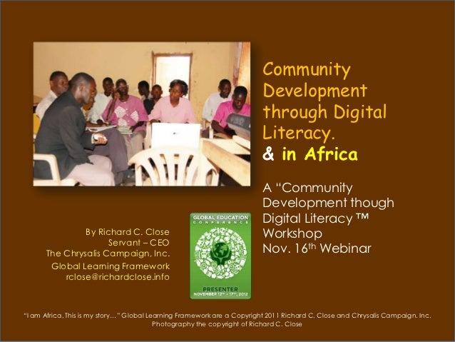 Community                                                                         Development                             ...