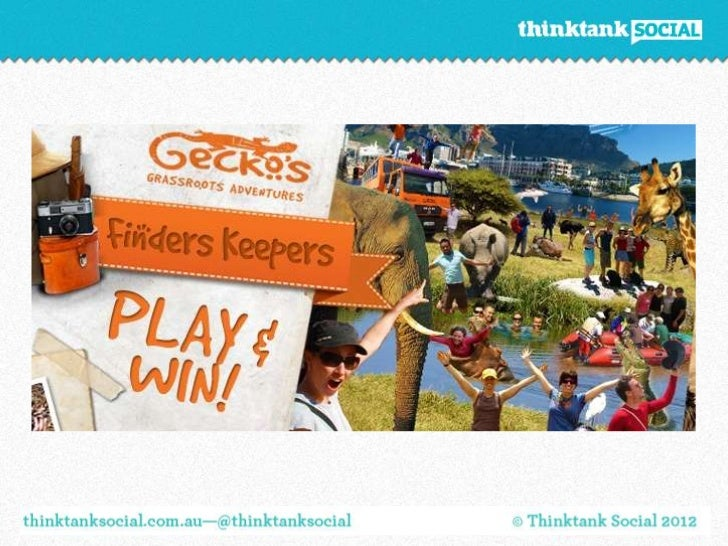 AboutWe've created a fun, easy to use Facebook game that engages people inthe Gecko's brand and highlights the destination...