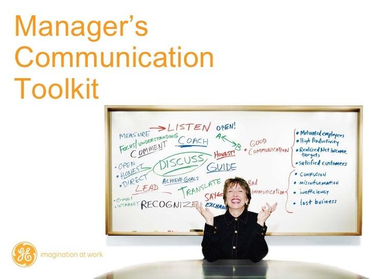 Manager'sCommunicationToolkit