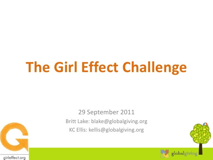 Girl Effect webinar - posting a project