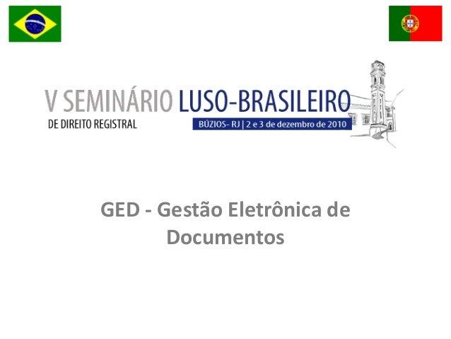 GED - Gestão Eletrônica de Documentos