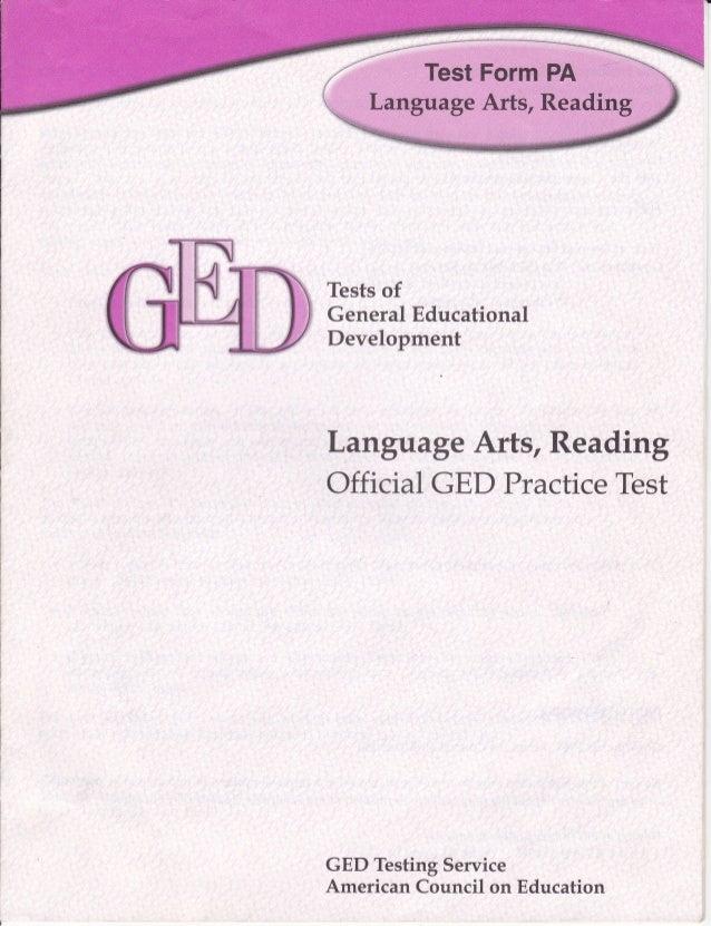 GED, Language Arts, Reading