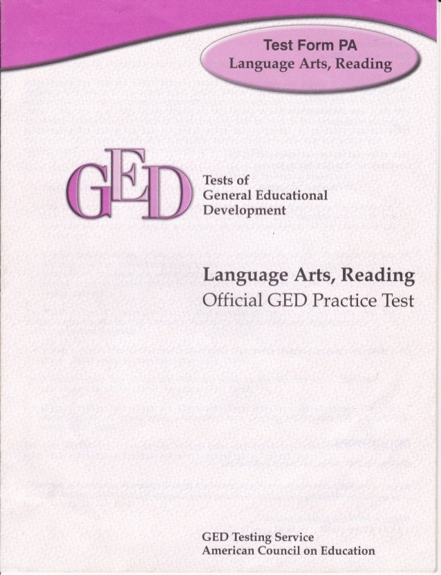 GED, Language Arts, Reading