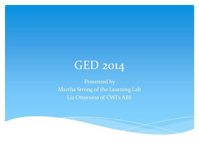 Ged 2014