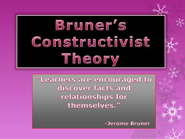 bruners constructivist theory In this unit you will be introduced to many of the issues to understanding and applying cognitive development theories for instructional design purposes.