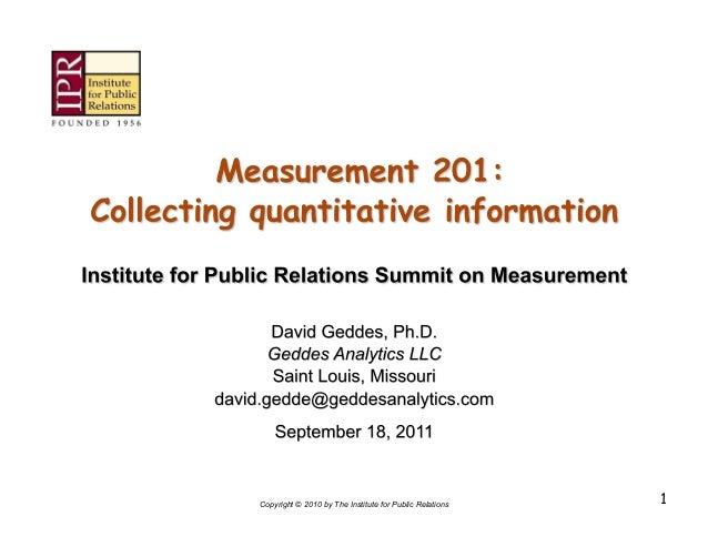 Workshop on public relations measurement