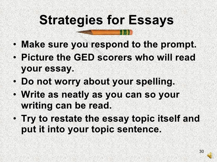 Help With The Ged Essay - buyenglishwritingessayservices