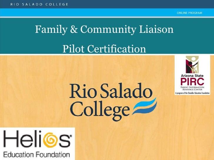 Family & Community Liaison Pilot Certification
