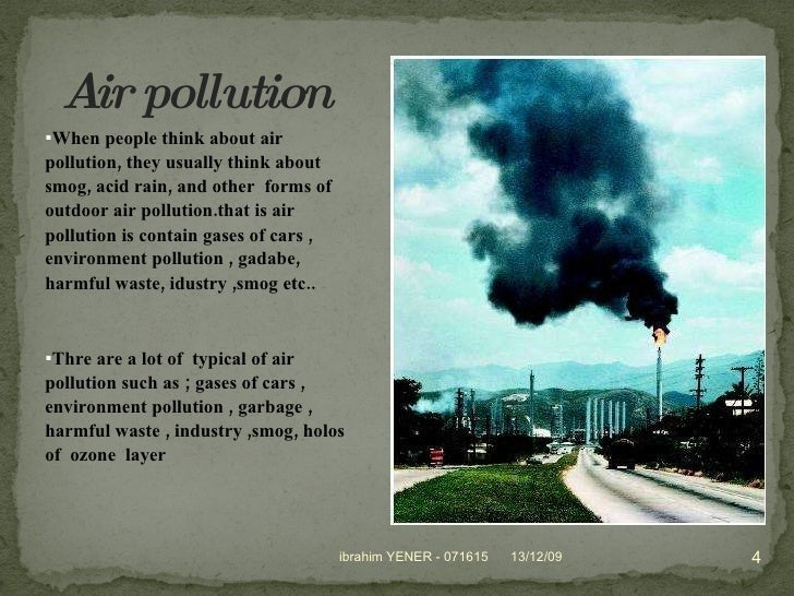air and water pollution essay