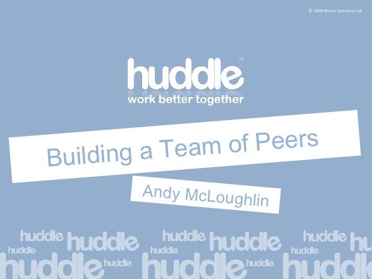 Building a Team of Peers Andy McLoughlin