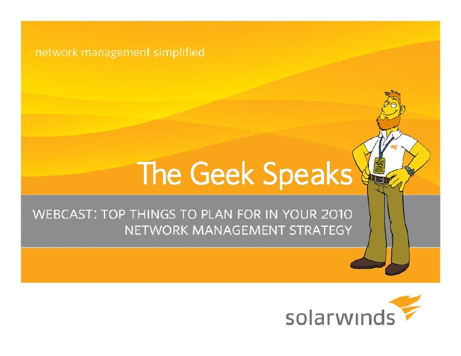 "Introduction A big ""Howdy"" from SolarWinds® based in Austin, Texas   » Josh Stephens - Head Geek, Monster Blogger, and    ..."