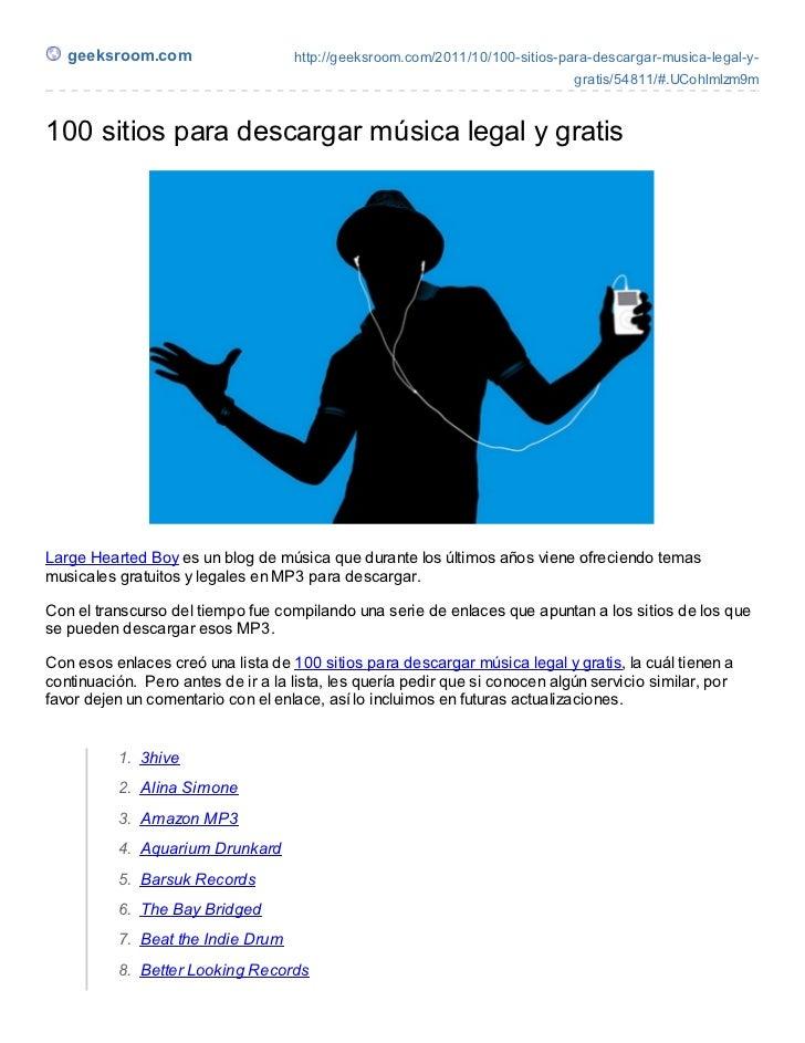 100 sitios para descargar música legal y gratis