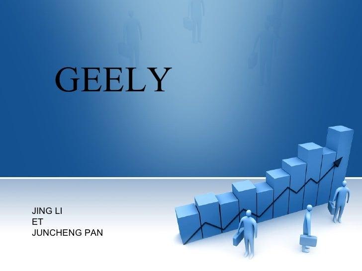 GEELY JING LI ET JUNCHENG PAN
