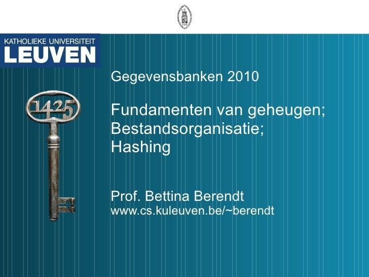 Gegevensbanken 2010 Les11