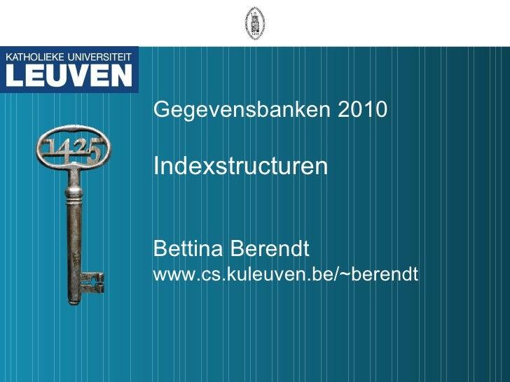 Gegevensbanken 2010 les12