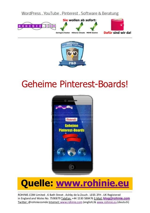 Geheime Pinterest-Boards