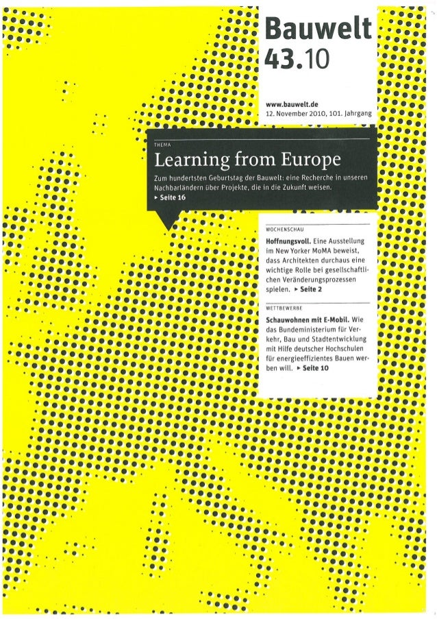 Gehl architects bauwelt_43.10_learning from europe