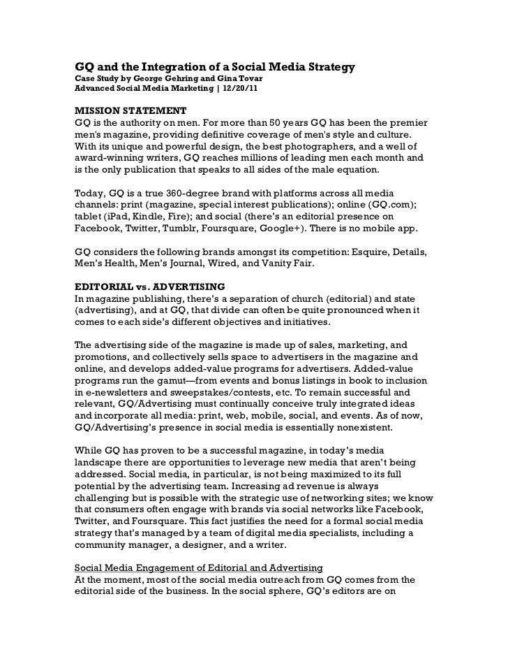 Gehring/Tovar Case Study: GQ