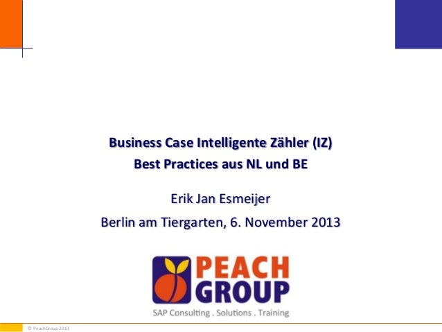 Business Case Intelligente Zähler (IZ) Best Practices aus NL und BE Erik Jan Esmeijer Berlin am Tiergarten, 6. November 20...