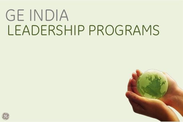 GE India Leadership Programs