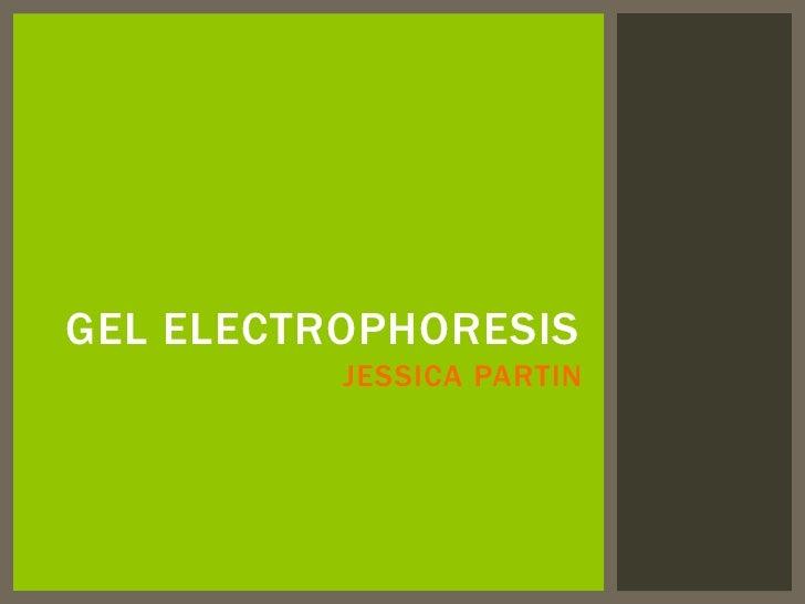 GEL ELECTROPHORESIS          JESSICA PARTIN